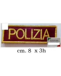 "SCRITTA RICAMATA ""POLIZIA"""