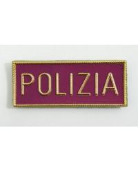 """SCRITTA """"POLIZIA"""" PLASTIFICATA"""