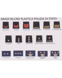 Gradi Velcro POLIZIA DI STATO