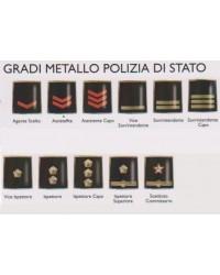 Gradi metallo POLIZIA DI STATO